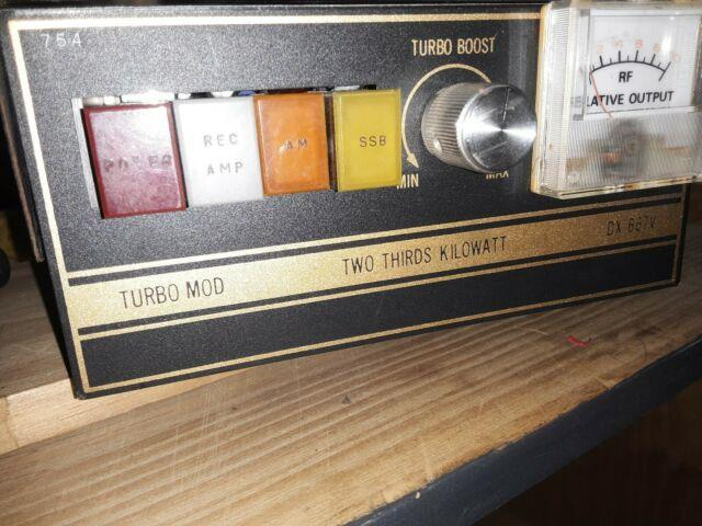 Turbo Mod Dx 667 V 10 Meter Amp For Parts Or Not Working