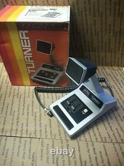 Turner silver 500 Amplified Dynamic CB RADIO Microphone 6 wire CB HAM DESK