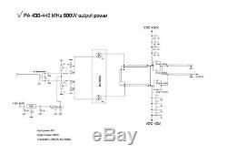 UHF amplifier 70 cm 430 MHz 440 MHz LDMOS 500W BLF888A