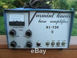 Vintage Varmint Linear Base Amplifier Xl-250 Very Good Condition & Turns On