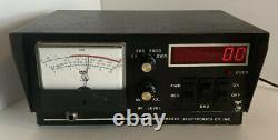 Vintage Wawasee 2000 Watt/swr/ Clock Meter In Great Condition Vhtf
