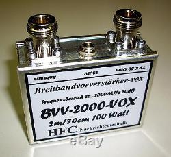 Vorverstärker BVV-2000-VOX / 25 bis 2000 MHz Weißblechgehäuse