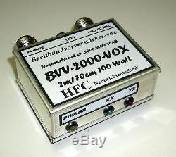 Vorverstärker BVV-2000-VOX LED / 25 bis 2000 MHz Weißblechgehäuse