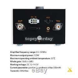 XPA125 HF Ham Radio Power Amplifier 125W QRP ALC LC Antenna Tuner Function